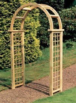 roman lattice arch image wooden garden arch