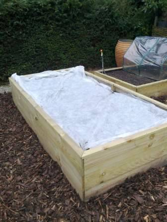fleece on raised bed