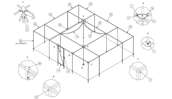 Peak Cage CAD Drawing 2