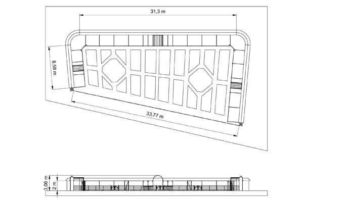 Walled Garden Estate Fencing CAD Drawing 1