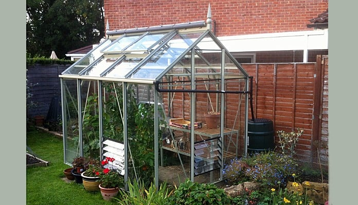 6ft x 8ft Willow Grey Greenhouse, Mr Alan D - Buckinghamshire