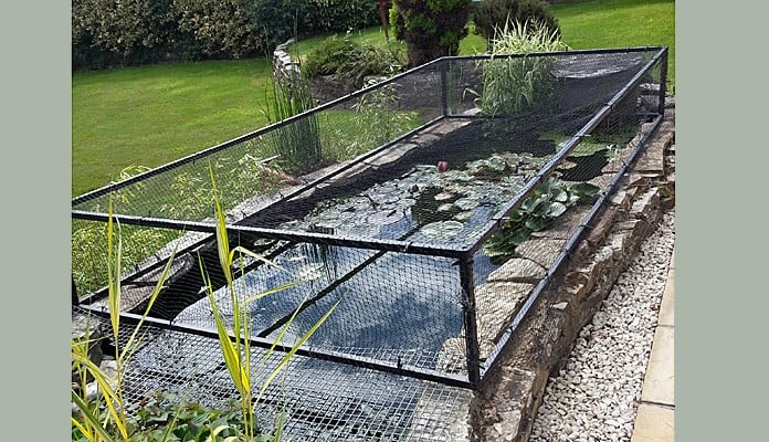 Bespoke Raised Steel Pond Cover, Mr Hoyte - Cornwall