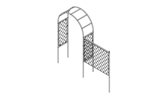 Lattice Arch and Fence System Design