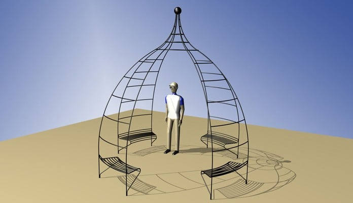 Example Project - Wire Gazebo with Incorporated Seating