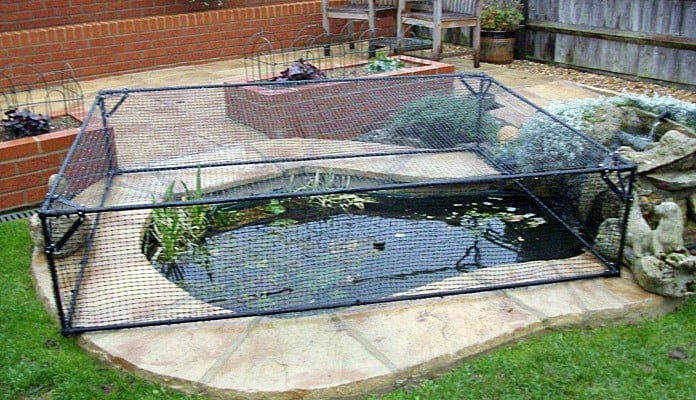 Pond cover raised slot lock customer projects for Elevated koi pond