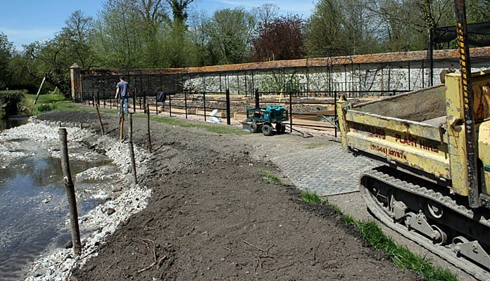 Walled Garden Estate Fencing Construction 1