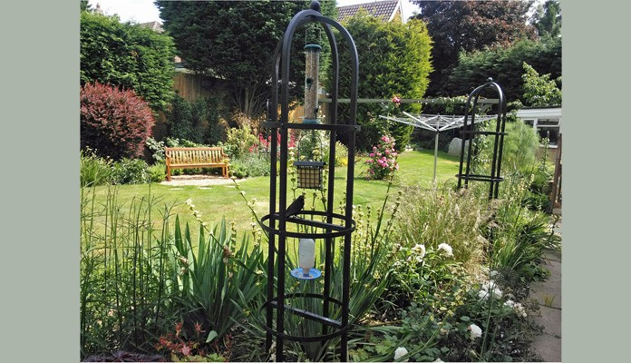 Steel Crown Topped Bird Feeding Station, Mr Springett - Kent