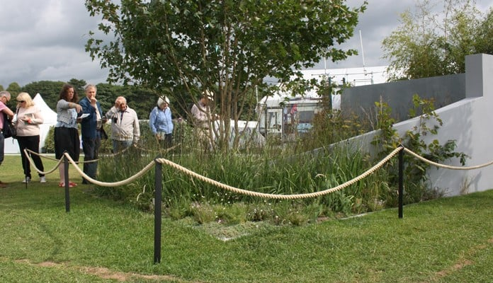 Boundary Fence round RHS Tatton Show Garden