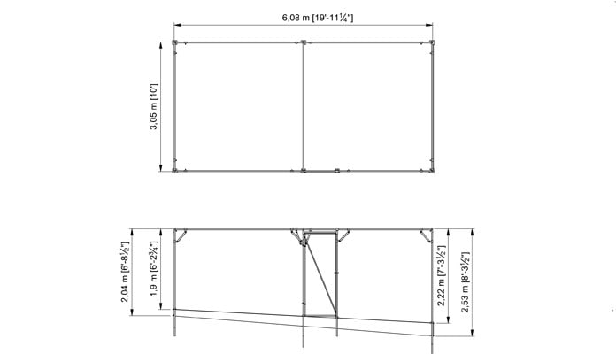 Fruit Cage Steel Sloped 3 CAD Drawing 1