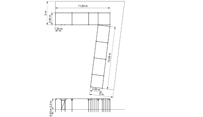 Fruit Cage Steel Wall Fixed Tall CAD1