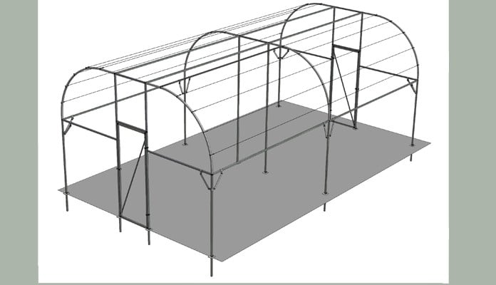 Extra Wide Roman Arch Fruit Cage Design
