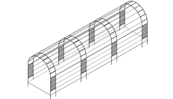 Linked Arches Half Lattice Superior Trellis Design