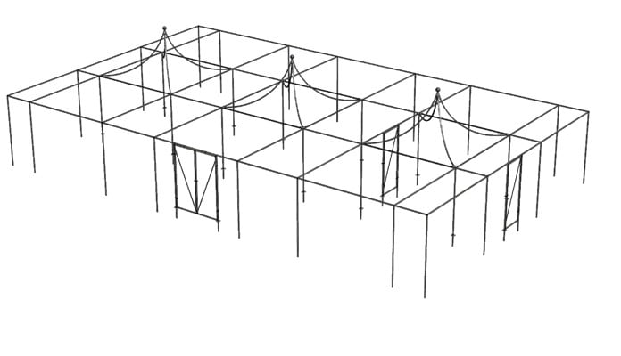 Fruit Cage Peak Roof Design