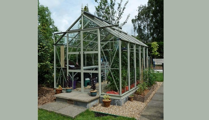8ft x 10ft Willow Grey Greenhouse, Mrs Newton - West Sussex