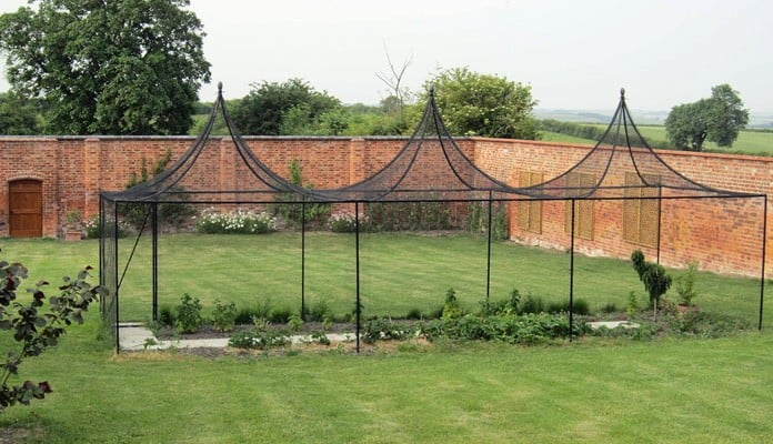 3m x 9m Peak Roof Steel Fruit Cage, Mr B - Leicestershire