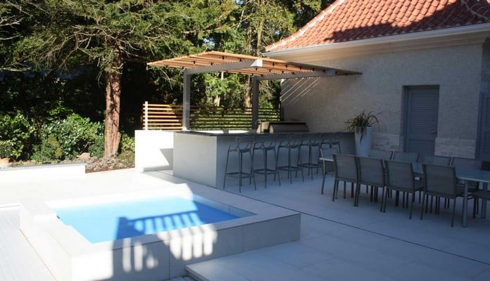 Cantilever Pergola for Outdoor Kitchen 4