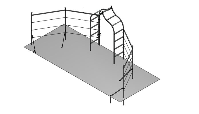 Example Project - Ogee Arch Angled Fence System