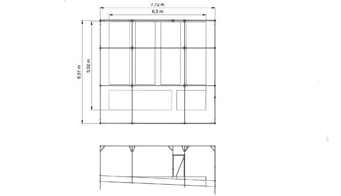 Fruit Cage Steel Sloped CAD Drawing 1