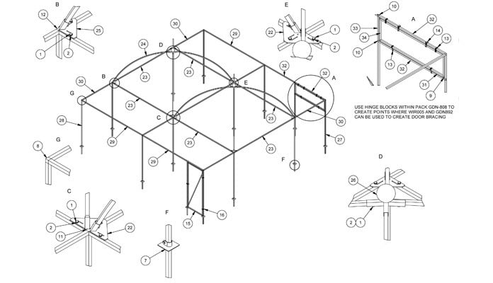Dovecote CAD Drawing 2