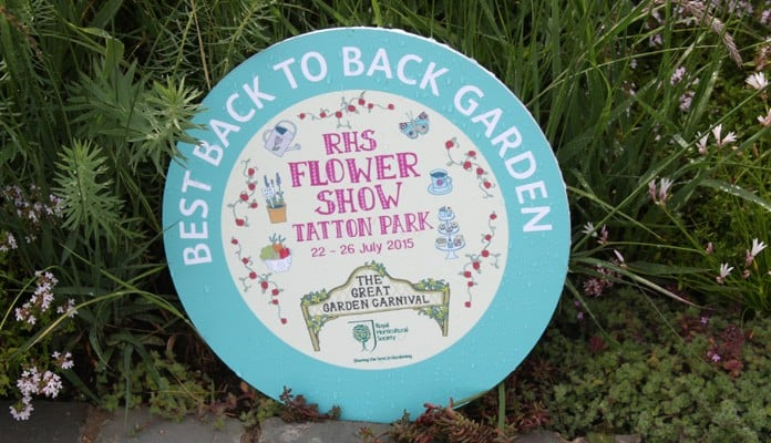 Award for RHS Tatton Show Garden