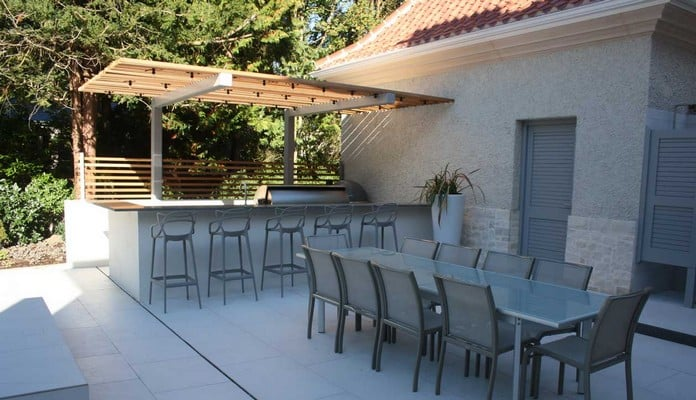 Cantilever Pergola for Outdoor Kitchen 5
