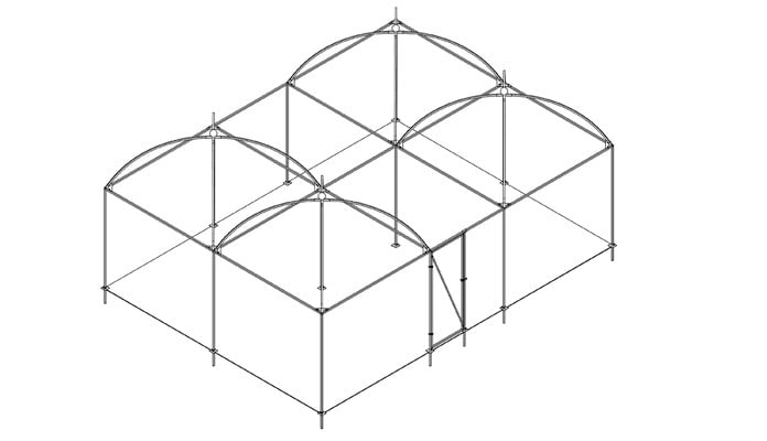 Fruit Cage with Dome Roof Design