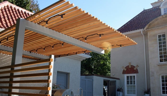 Cantilever Pergola for Outdoor Kitchen 6