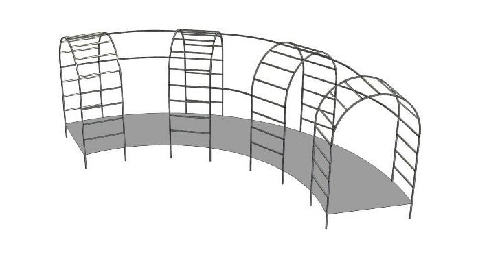 Example Project - Roman arches linked in a curve