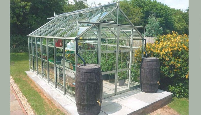 8ft x 14ft Willow Grey Greenhouse, Mr Bee - Leicester