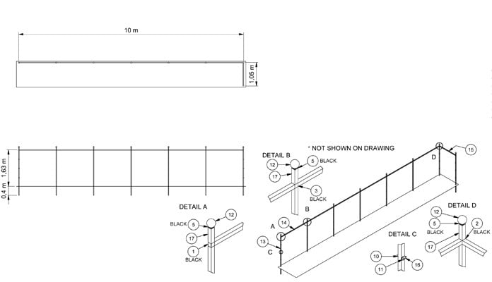 Growing Frames for Wind Protection CAD Drawing 2