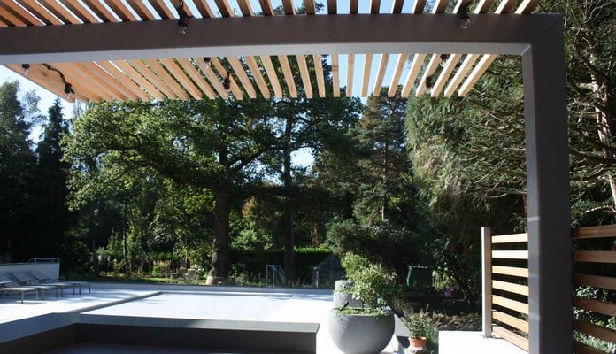 Cantilever Pergola for Outdoor Kitchen Walls