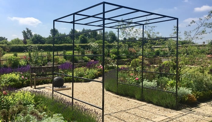 Daisy Barn Garden Square Pergola in full sun