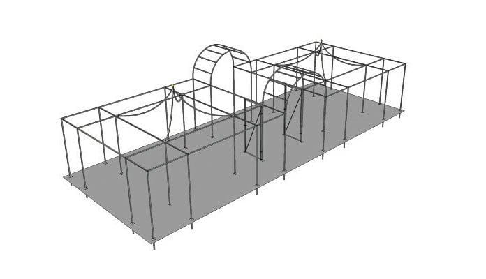 Example Project - Roman arch walk through and peaked fruit cages