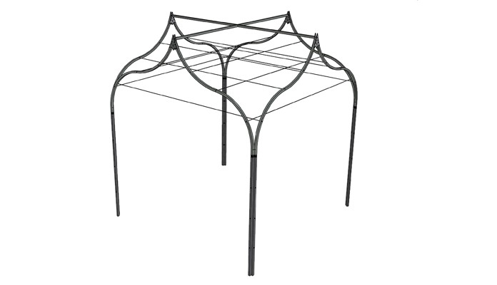 Ogee Gazebo with Gripple Plant Training Wires Design