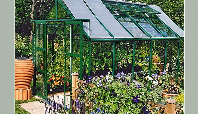 8ft x 12ft Pine Green Greenhouse, Mr Stamp - West Sussex