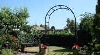 Making a feature with a Metal Garden Arch