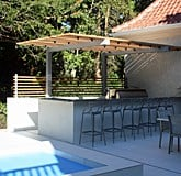 Cantilever Pergola for Outdoor Kitchen