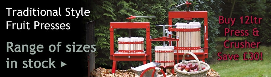 Fruit Presses for Apples, Pears, Grapes & Soft Fruits