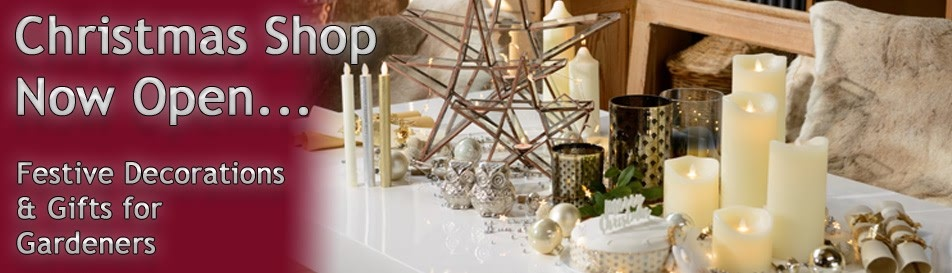 Christmas Decorations, Gardening Gifts and lots more...