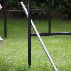 Use The Extremely Useful, No-nonsense Hole Former To Create Pilot Holes For Both Our Fruit And Vegetable Cages And Below Ground Models Of Our Garden A