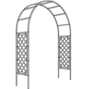 Roman Half Lattice Garden Arch