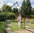 Ogee Half Lattice Standard Garden Arch