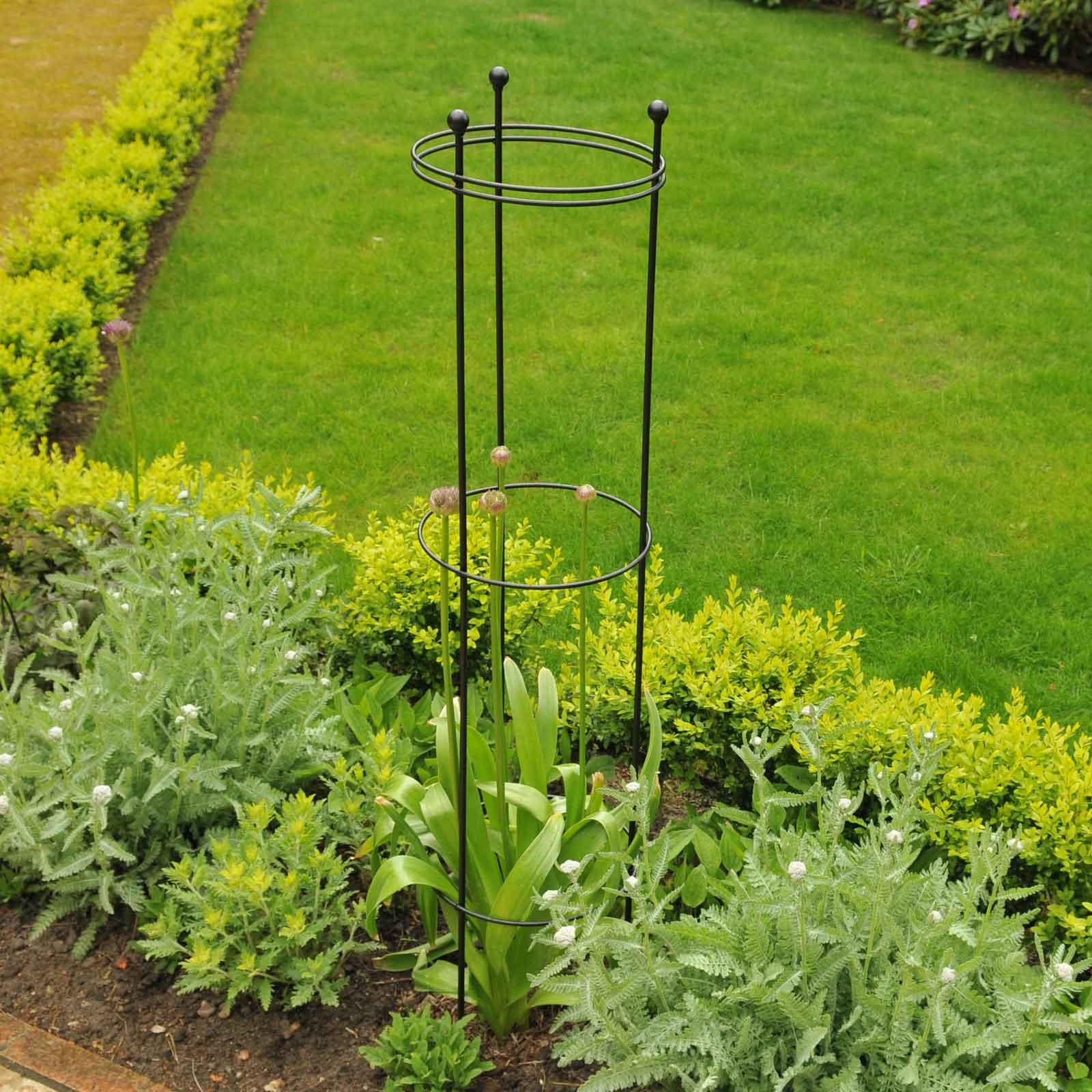 Harrod Tall Circular Plant Support - Matt Black