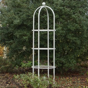 Harrod Steel Round Obelisks - Silk Grey