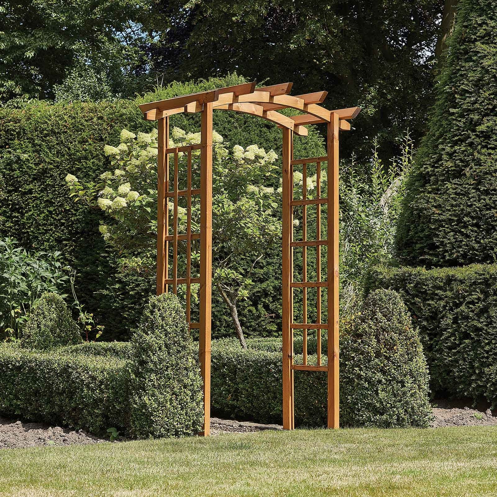 The Thornton Rustic Wooden Garden Arch Will Create A Stunning Focal Point In Any Garden And Is Perfect For Training A Variety Of Garden Plants. Crafte
