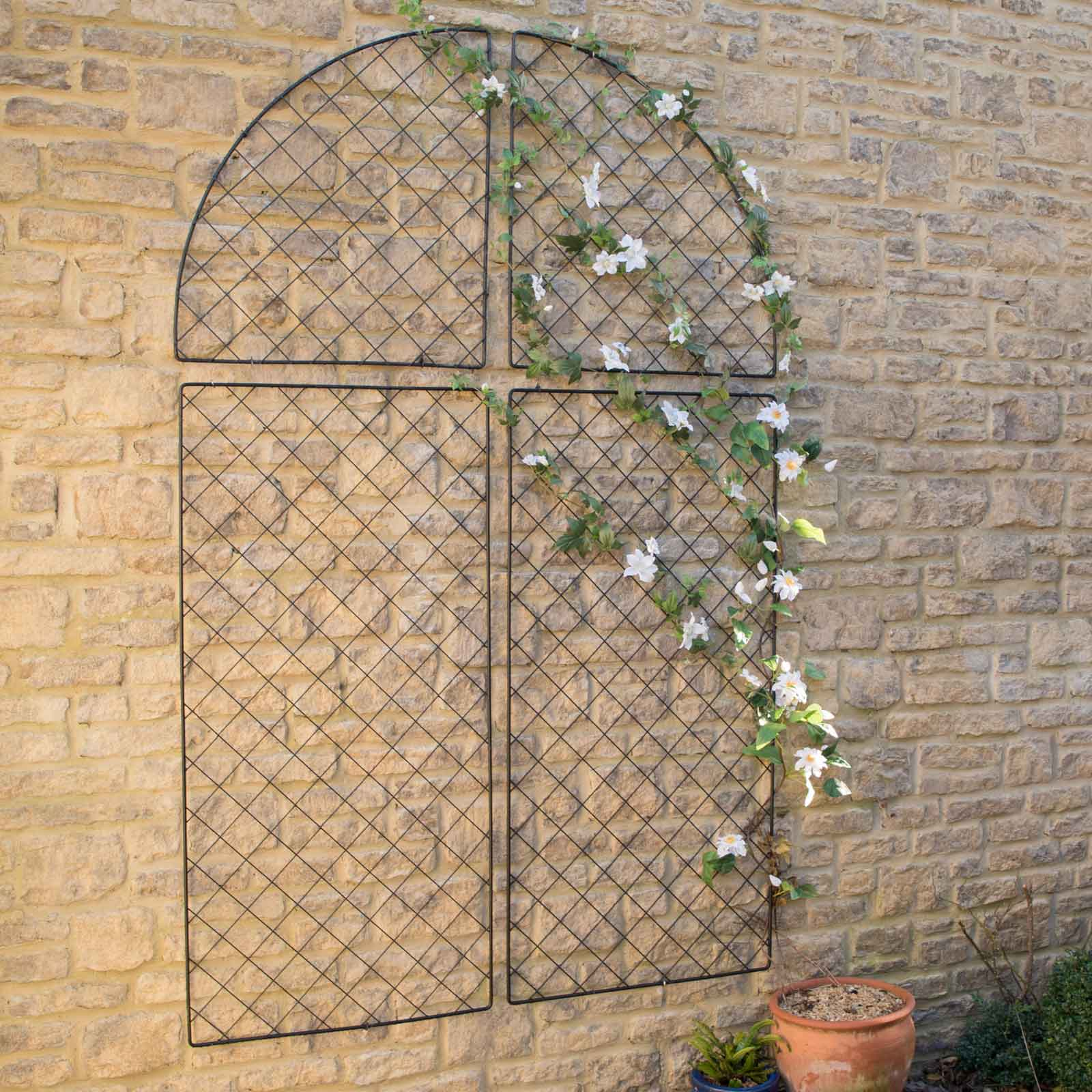 The Harrod Wall Trellis Frames Offer Stylish And Long Lasting Support For Your Climbing Plants, With A Traditional Roman Arch Shape The Panels Will Ma