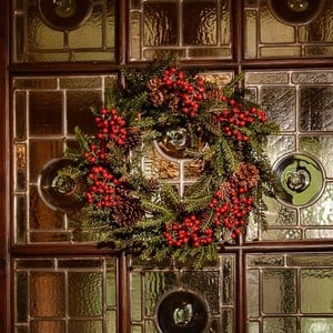 Alpina Pine Luxury Wreath By Floral Silk