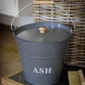 Charcoal Ash Bucket Will Hold All Your Discarded Ash Until You Are Ready To Take It Outdoors, The Sturdy Powder Coated Steel Bucket Features A Tight F