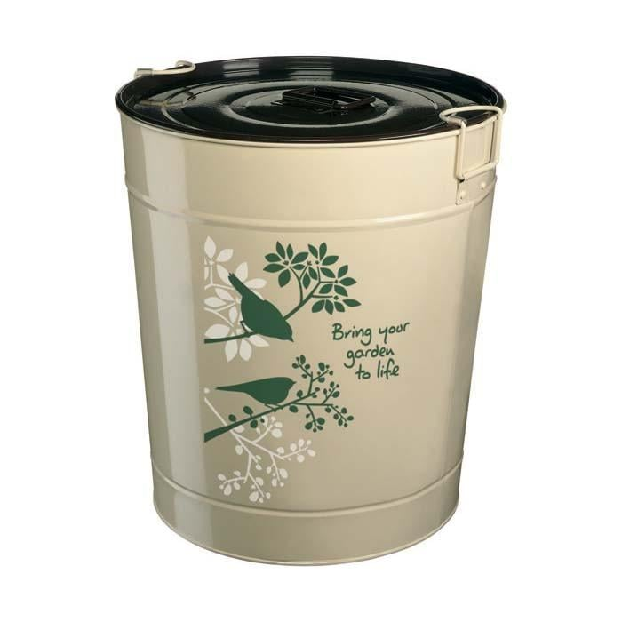 Bird food storage bin 25 litre harrod horticultural for Bird food holder
