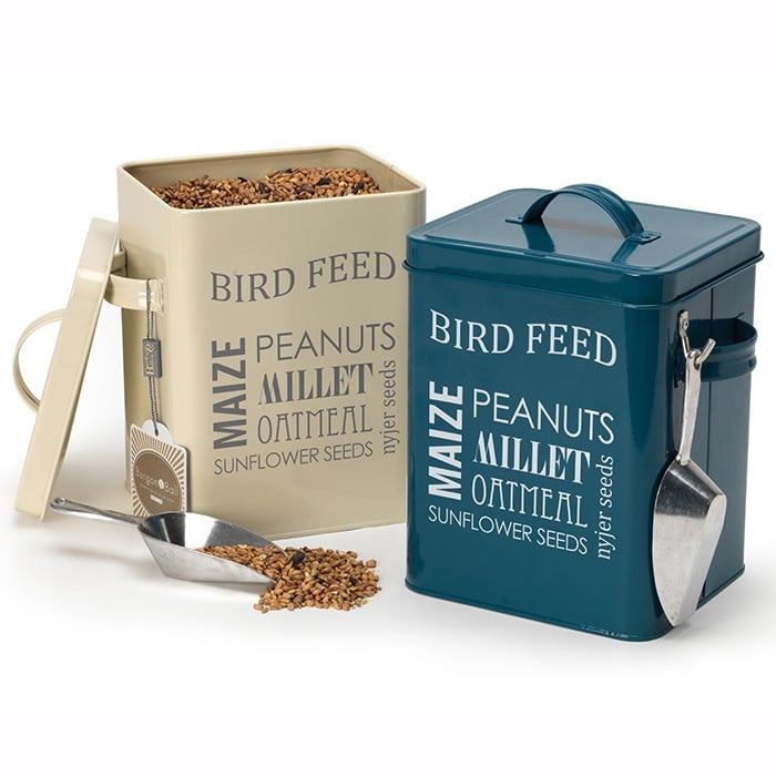 Bird food tins harrod horticultural uk for Bird feed tin
